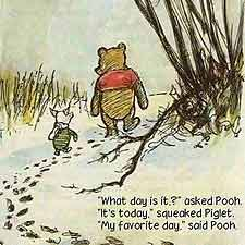 Pooh and Piglet Walking
