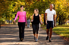 Three Seniors Walking