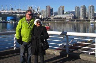 Yoko * Geoff Walking Vancouver