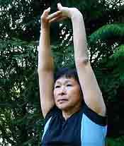 Chair Exercises Palms Upward