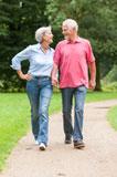 Senior Couple Walking ON Path